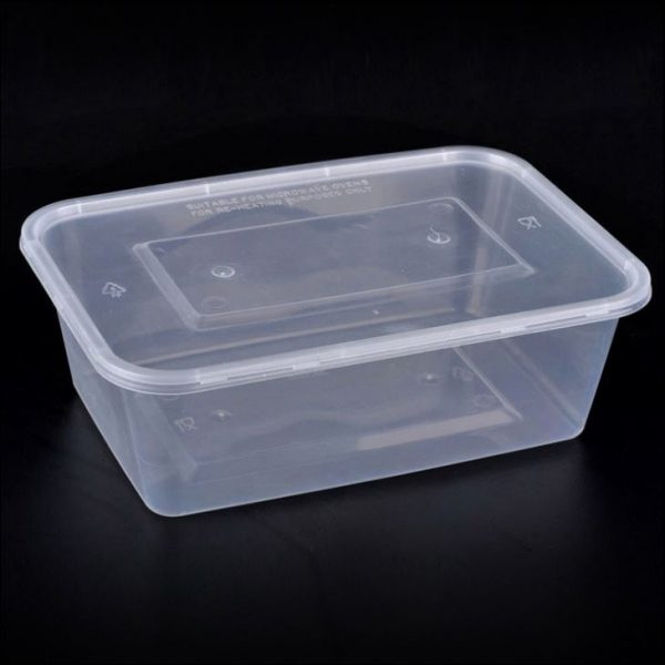 Takeaway Box Rectangular Clear 750ml 10 Pieces Pack Ps
