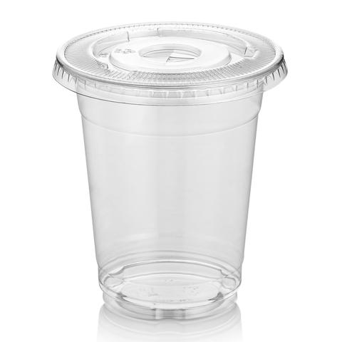 9291978110a Plastic Cups 500ml Clear With Flat Lids 50 pieces/pack – PS Party Shop